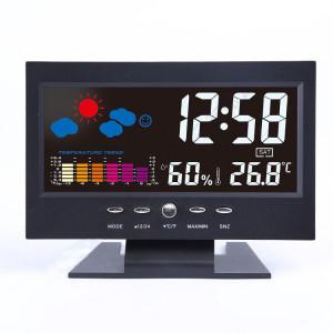 Statie meteo, calendar, alarma, ceas, termometru, afisaj