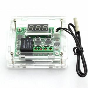 Termostat electronic W1209 12V cu senzor si cutie montaj