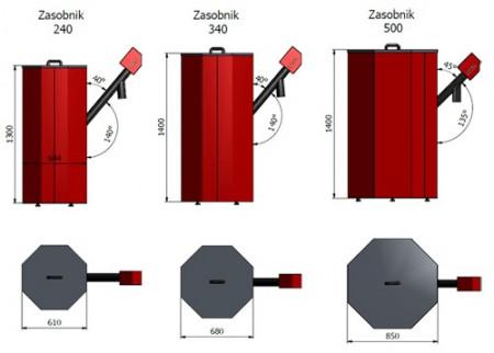 Rezervor peleti 240 litrii (aprox. 150kg)