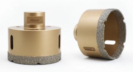 Carota diamantata pt. gresie portelanata & piatra - diam. 82mm - Premium - DXDY.GOLDrill.82