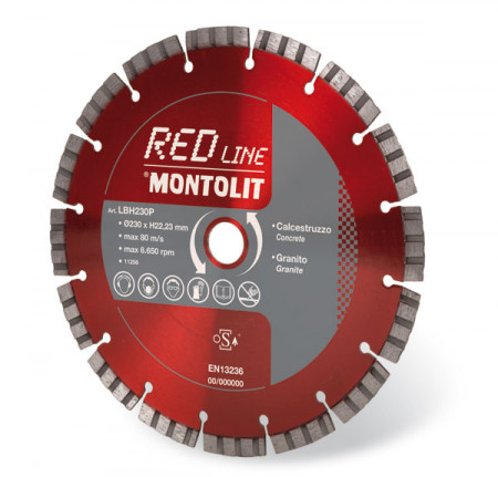 Disc diamantat Montolit LBH250 - taiere uscata - pt. beton, granit, piatra dura, etc.