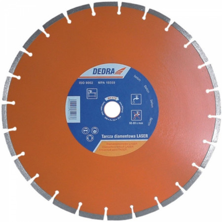 Disc diamantat pentru beton armat, diametru 350mm - Standard - H1173 - Dedra