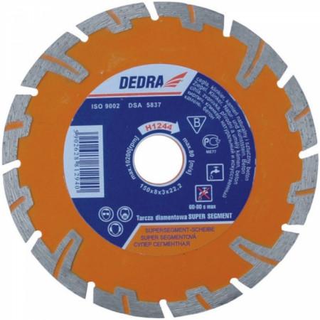 Disc diamantat pentru beton armat, diametru 115mm - Standard - H1242 - Dedra