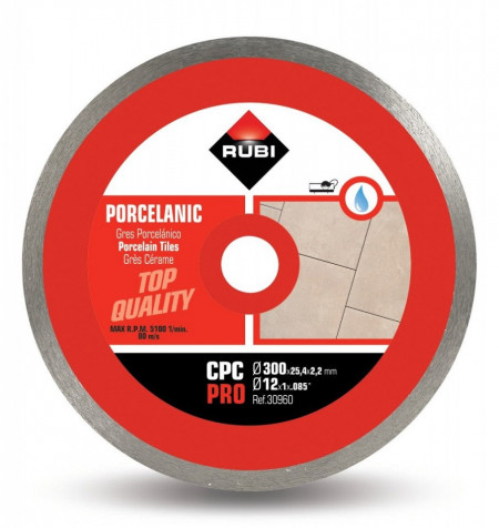 Disc diamantat pt. gresie portelanata 300mm, CPC 300 Pro - RUBI-30960