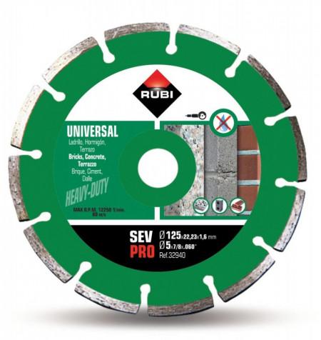 Disc diamantat pt. beton si caramida 125mm, SEV 125 Pro - RUBI-32940