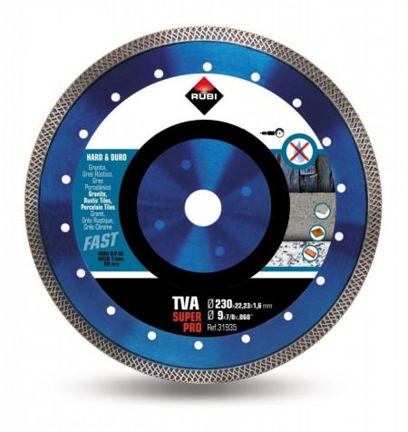 Disc diamantat pt. materiale foarte dure 230mm, TVA 230 SuperPro - RUBI-31935