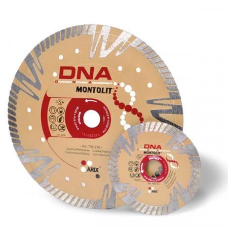 Disc diamantat Montolit DNA TXH230 - taiere uscata - pt. beton, granit, piatra dura, portelan gros, etc.