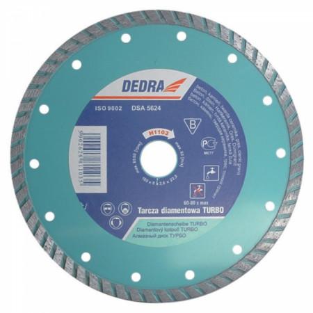 Disc diamantat pentru beton, diametru 125mm - Standard - H1101 - Dedra