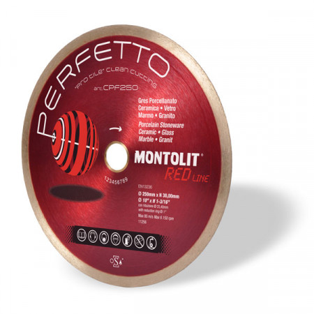 Disc diamantat Montolit CPF230 - taiere cu apa - pt. portelan, placi ceramice glazurate, sticla, etc.