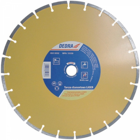 Disc diamantat pentru beton armat, granit si asfalt, diametru 115mm - Standard - H1152 - Dedra