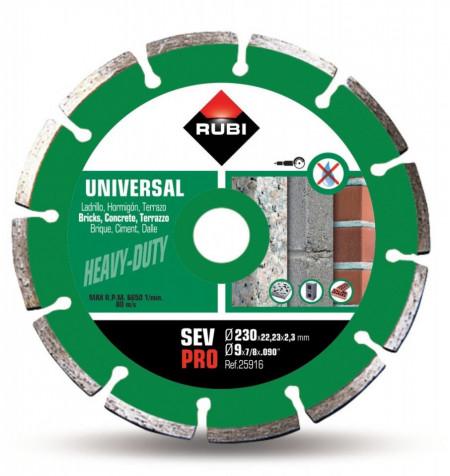 Disc diamantat pt. beton si caramida 230mm, SEV 230 Pro - RUBI-25916