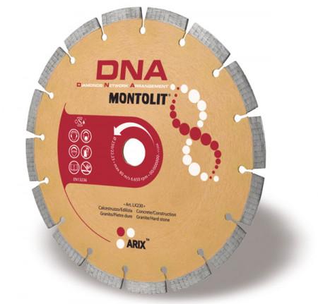 Disc diamantat Montolit DNA LX250 - taiere uscata - pt. beton, granit, piatra dura, etc.