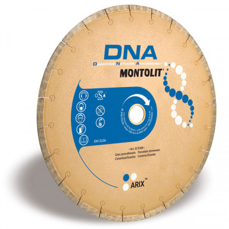 Disc diamantat Montolit DNA SCX400 - taiere cu apa - Ultra Long Life