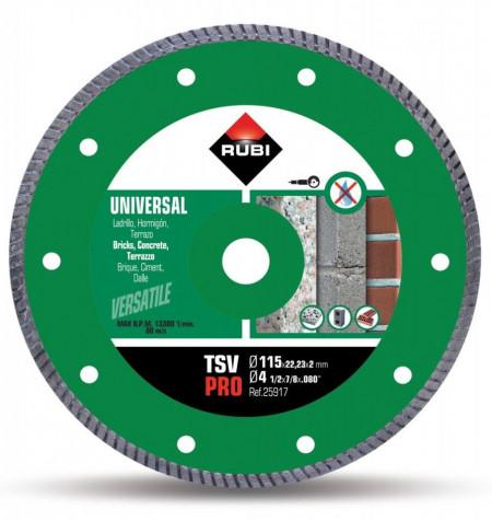 Disc diamantat pt. beton si caramida 115mm, TSV 115 Pro - RUBI-25917