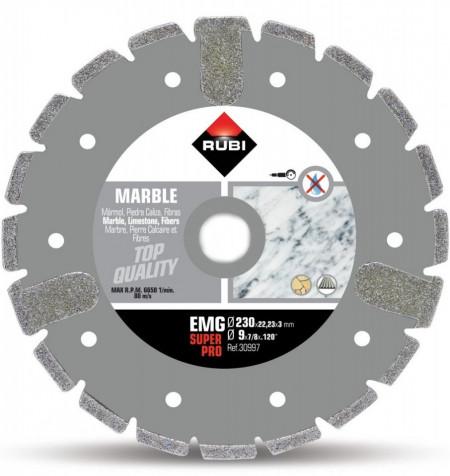 Disc diamantat galvanizat pt. marmura 230mm, EMG 230 SuperPro - RUBI-30997