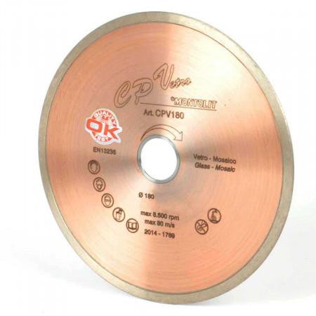 Disc diamantat Montolit CPV250 - taiere cu apa - pt. placi de sticla