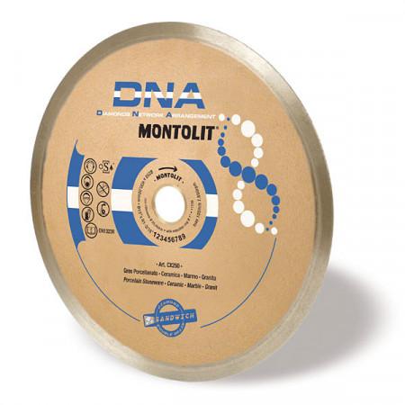 Disc diamantat Montolit DNA CX250 - taiere cu apa - pt. portelan, ceramica, marmura, etc.