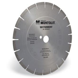 Disc diamantat Montolit SR300 - taiere cu apa - pt. granit, materiale abrazive, etc.