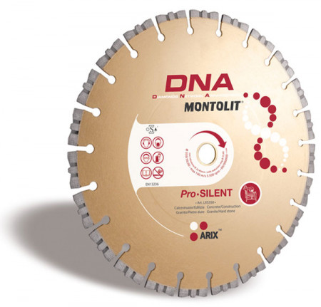 Disc diamantat Montolit DNA LXS350 - taiere uscata - pt. beton, granit, piatra dura, etc.
