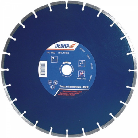 Disc diamantat pentru granit, diametru 350mm - Standard - H1163 - Dedra