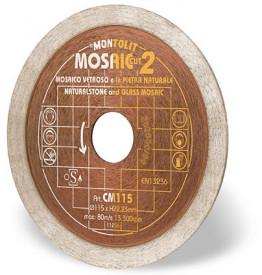 Disc diamantat Montolit CM115 - taiere uscata - pt. mozaic, mozaic din sticla, etc.
