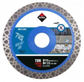 Disc diamantat pt. materiale foarte dure 115mm, TVR 115 SuperPro - RUBI-30986