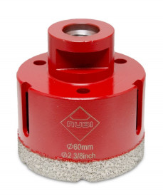 Carota diamantata pt. portelan, placi ceramice DryGres 60mm - RUBI-4915