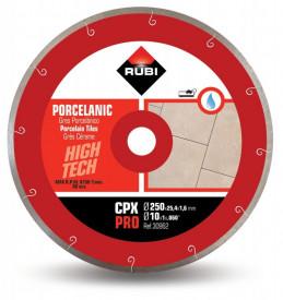Disc diamantat pt. gresie portelanata 250mm, CPX 250 Pro - RUBI-30962