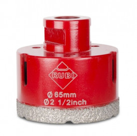 Carota diamantata pt. portelan, placi ceramice DryGres 65mm - RUBI-4916