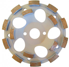"Cupa diamantata rand dublu ""dinti scurti"" - Beton 180mm Profesional Standard - DXDH.4207.180"
