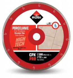 Disc diamantat pt. gresie portelanata 300mm, CPX 300 Pro - RUBI-30963