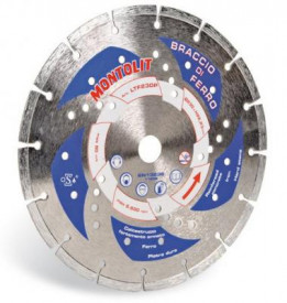 Disc diamantat Montolit LTF230P - taiere uscata - pt. beton armat, granit, fier, etc.