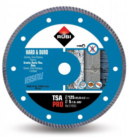 Disc diamantat pt. materiale foarte dure 125mm, TSA 125 Pro - RUBI-31953