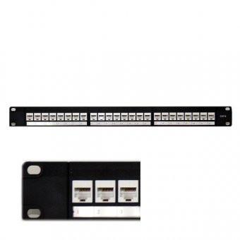 """Patch panel 24 porturi, RJ45 FTP Ecranat, Categorie 6e, 19""""/1U"""