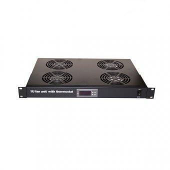 Baterie de 4 ventilatoare, Termostat digital, Alimentare 230V, Montaj 1u