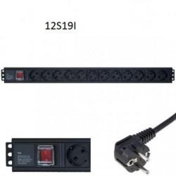 """Priza de rack 19"""" Conect Central Schuko Posturi Schuko 12"""