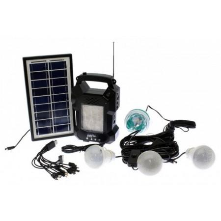 Kit solar GD-8050, panou solar, 4 becuri