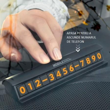 Suportul auto numarul de telefon prevaut cu clapeta