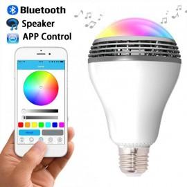 Bec Smart LED cu difuzor audio si diverse culori