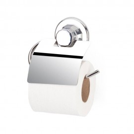 Suport cromat hartie igienica cu clapeta si ventuze