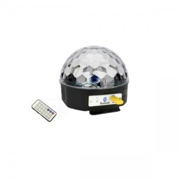 Glob disco cu lumini colorate si bluetooth