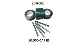 Set 20 role banda + 10.000 capse pentru aparat de legat vita de vie si legumele
