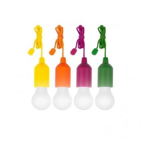 Set 4 becuri, cu fir colorat