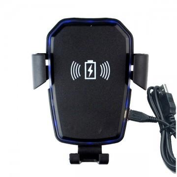 Suport telefon cu ventuza si incarcare wireless