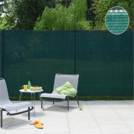 Plasa verde pentru gard 2 x 50 M, grad de umbrire 80%.