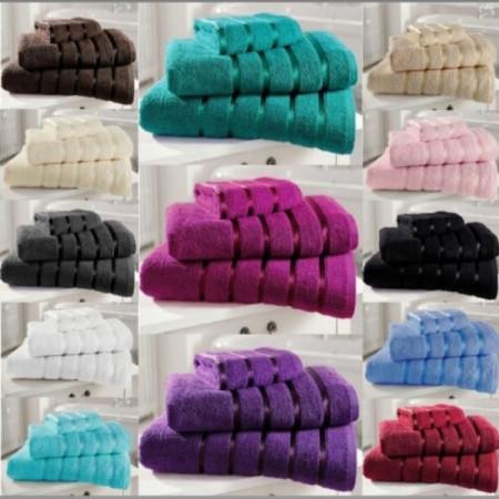 Set 6 prosoape din bumbac Pakistanez densitate 400 gr/mp, diverse culori