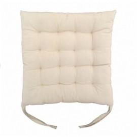 Perna decorativa pentru scaun, culoare alb