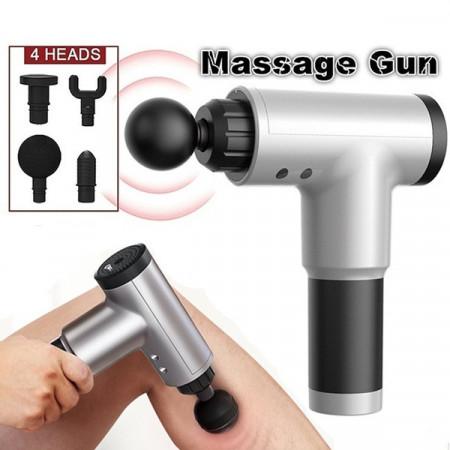 Aparat de masaj Gun Profesional, 4 capete interschimbabile, 6 trepte de viteza