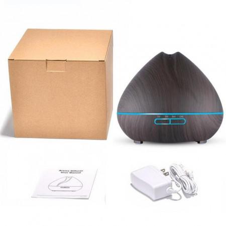 Difuzor ultrasonic aromaterapie, capacitate 300 ml, Negru