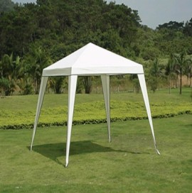 Pavilion gradina 240 x 240 x 250 cm - alb, Transport gratuit!